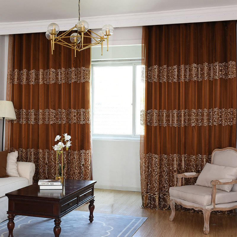 Vintage Custom Living Room Grommet Curtains 100% Shading Rate and UV Rays No Pilling No Fading No off-lining