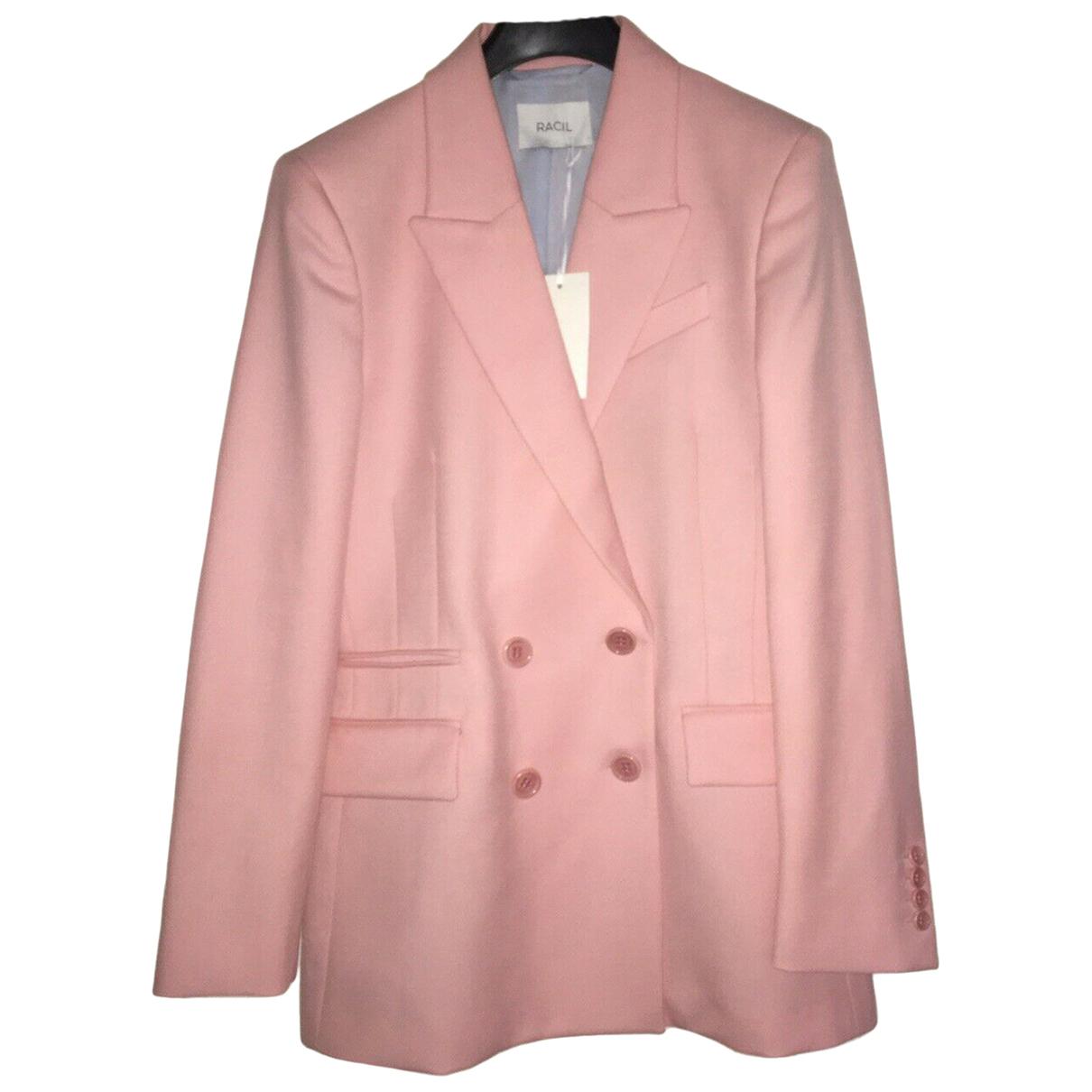 Racil N Pink Wool jacket for Women 12 UK