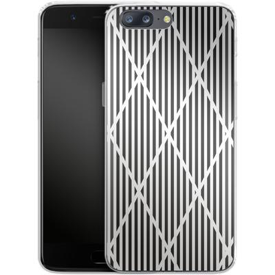 OnePlus 5 Silikon Handyhuelle - Black Diamonds von caseable Designs