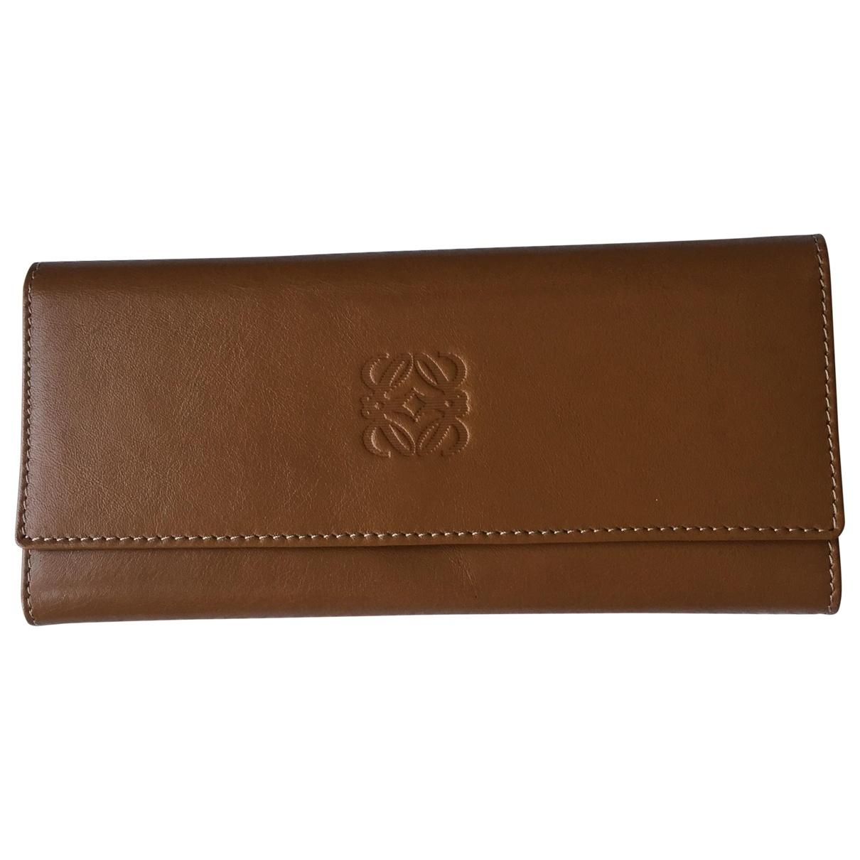 Loewe \N Brown Leather Small bag, wallet & cases for Men \N