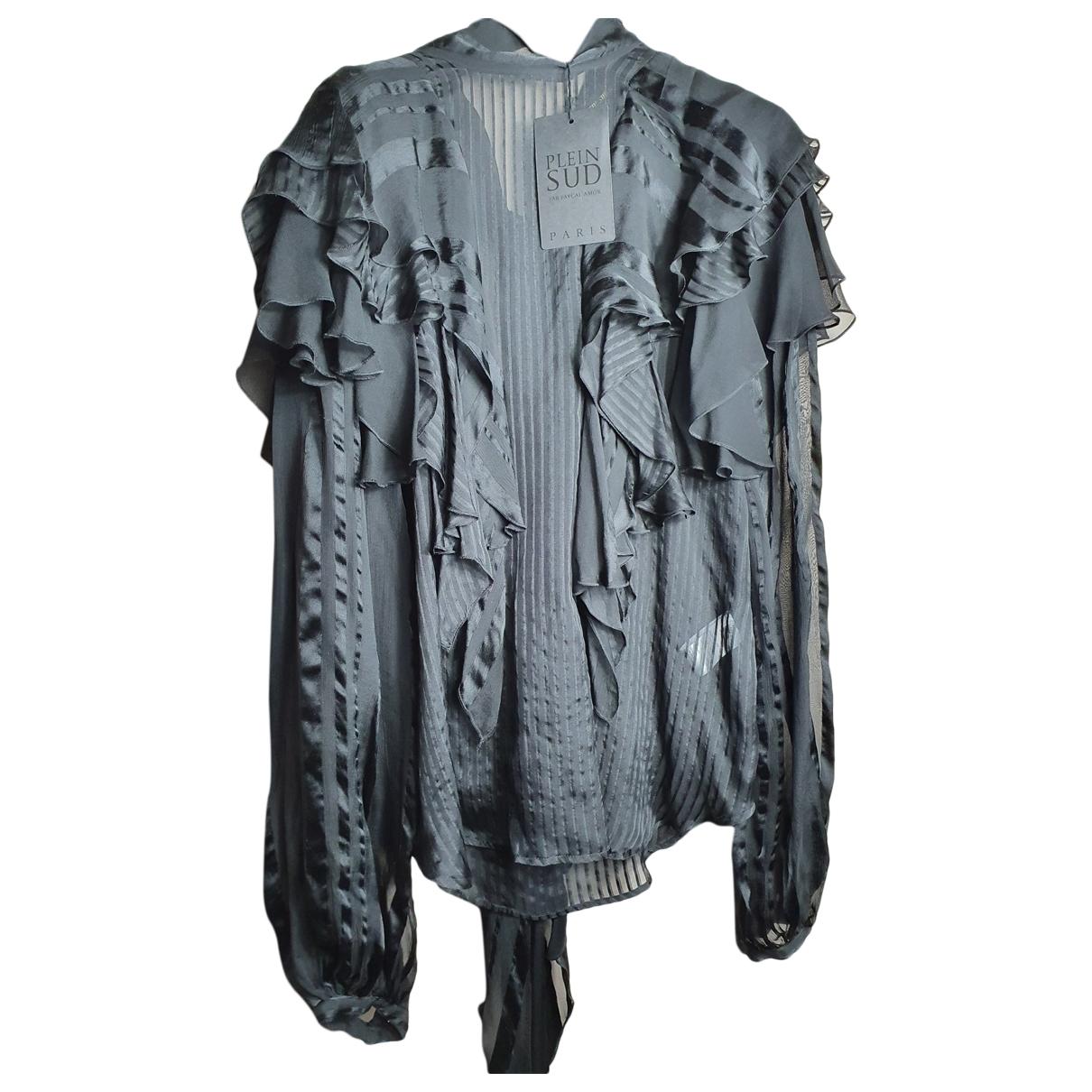 Plein Sud \N Black Silk  top for Women 42 IT