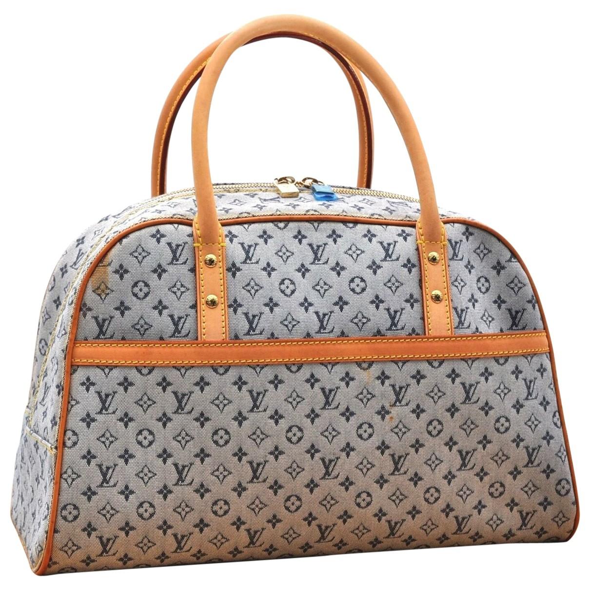 Louis Vuitton \N Handtasche in  Blau Leinen
