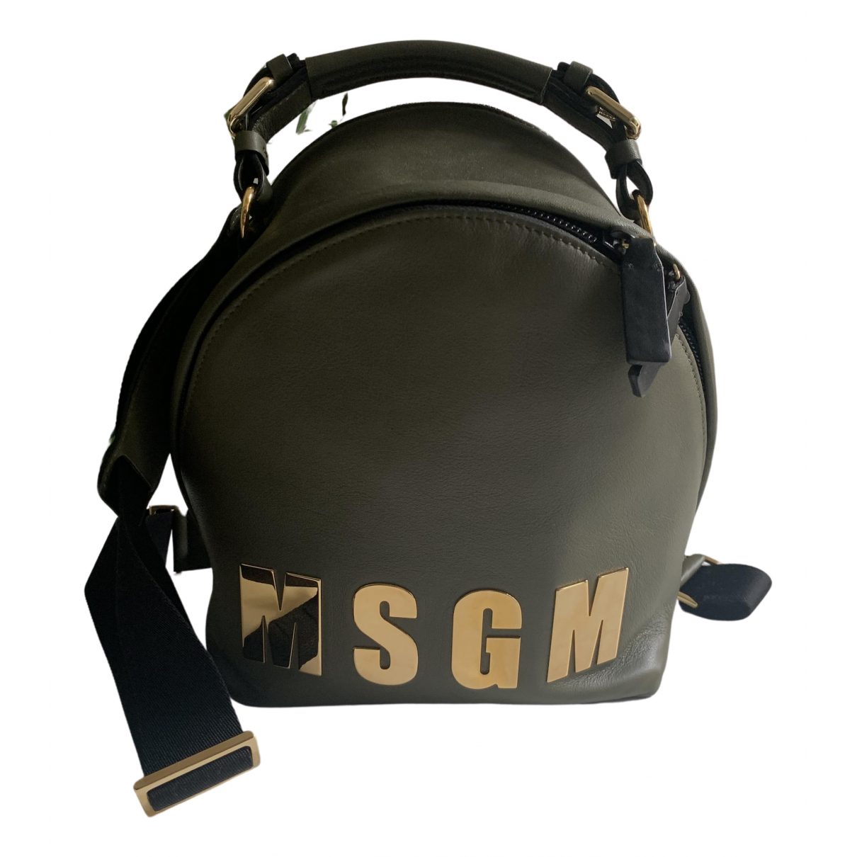 Msgm \N Rucksaecke in  Gruen Leder