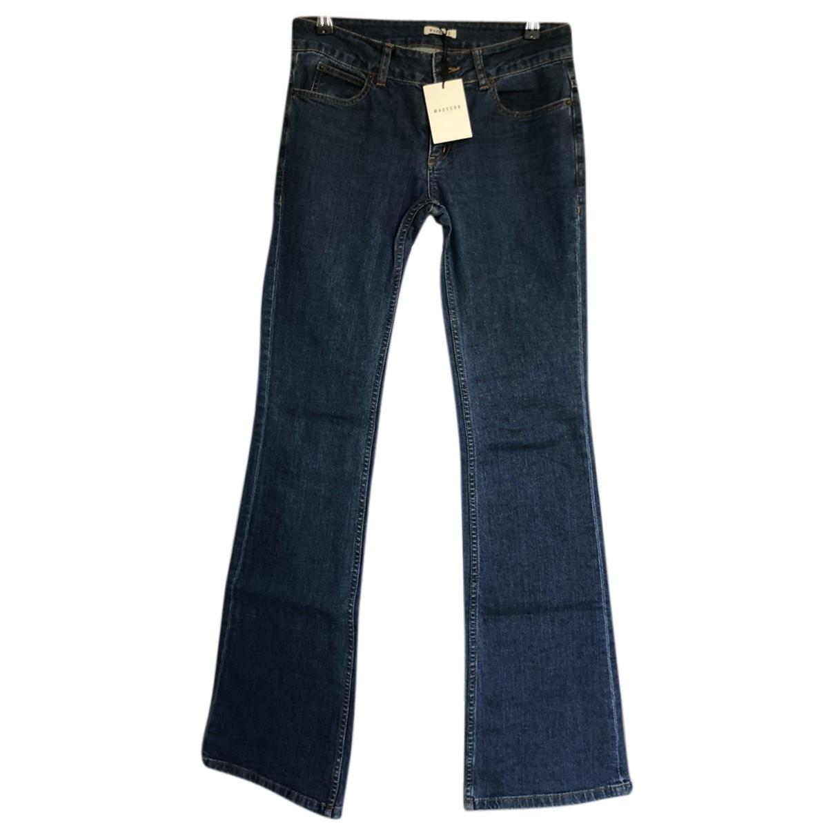 Masscob \N Blue Denim - Jeans Jeans for Women 34 FR