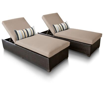 CLASSIC-2x-WHEAT Classic Chaise Set of 2 Outdoor Wicker Patio Furniture with 2 Covers: Wheat and