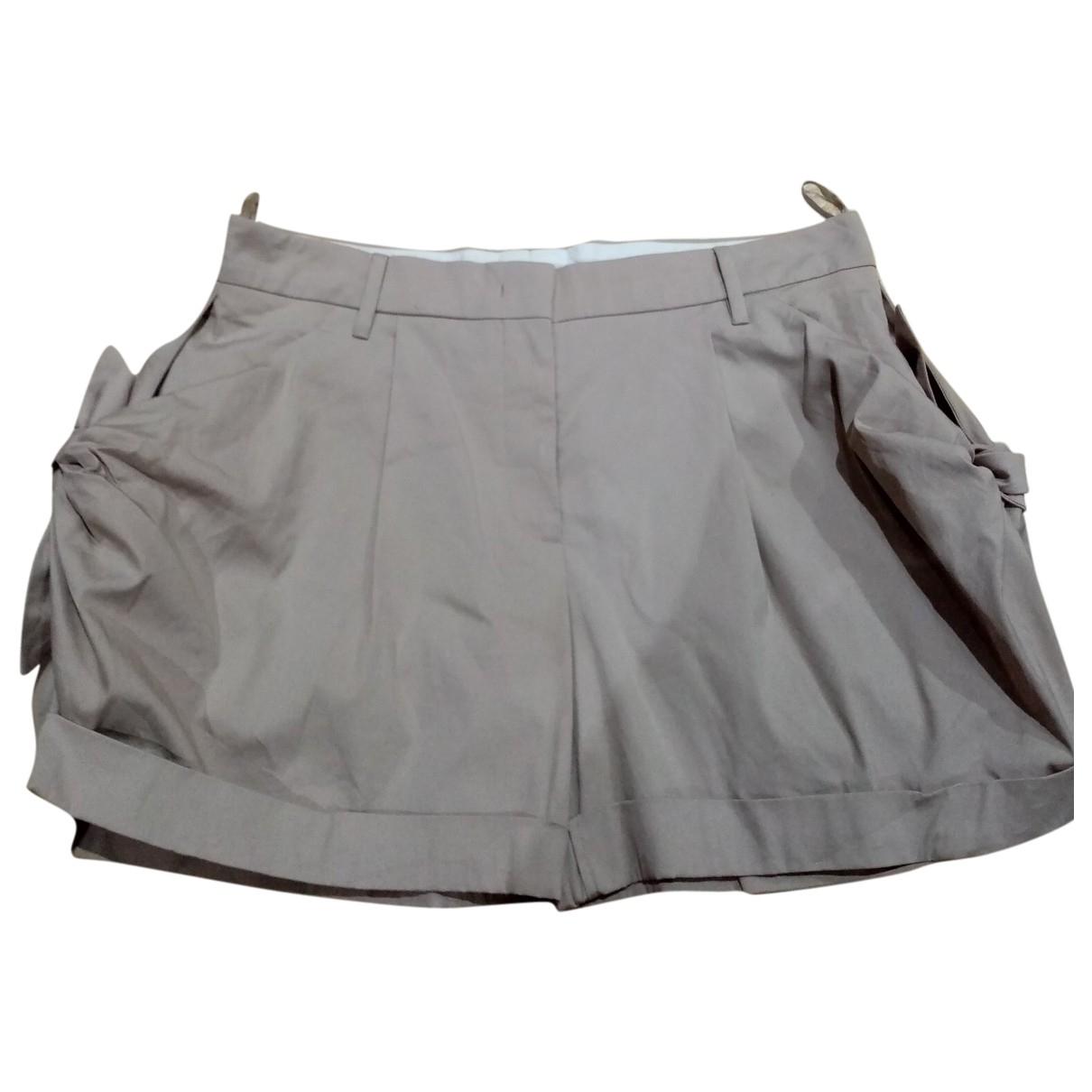 Prada \N Beige Cotton - elasthane Shorts for Women 42 FR