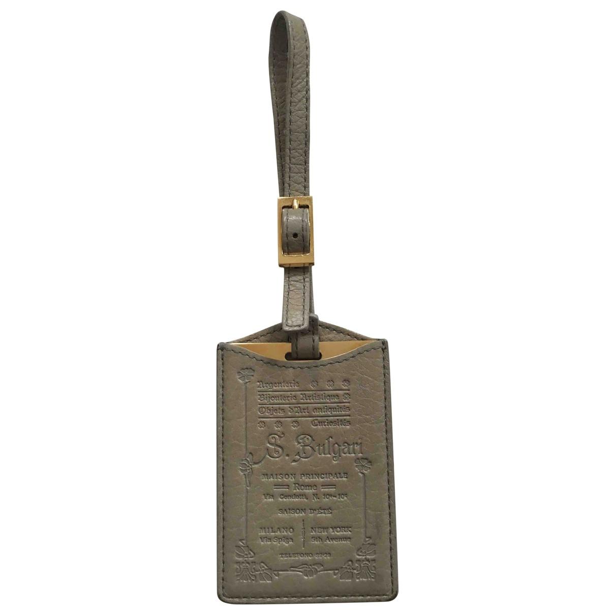 Bvlgari - Bijoux de sac   pour femme en cuir - gris