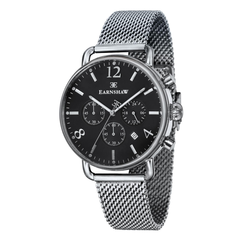Thomas Earnshaw Men's Investigator ES-8001-11 Black Stainless-Steel Japanese Quartz Dress Watch