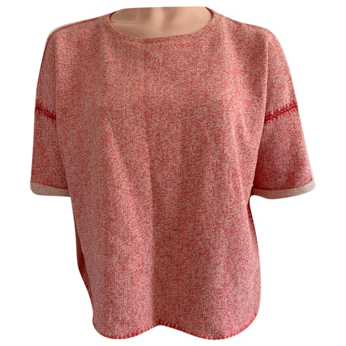 Maje \N Red Cotton  top for Women 1 0-5