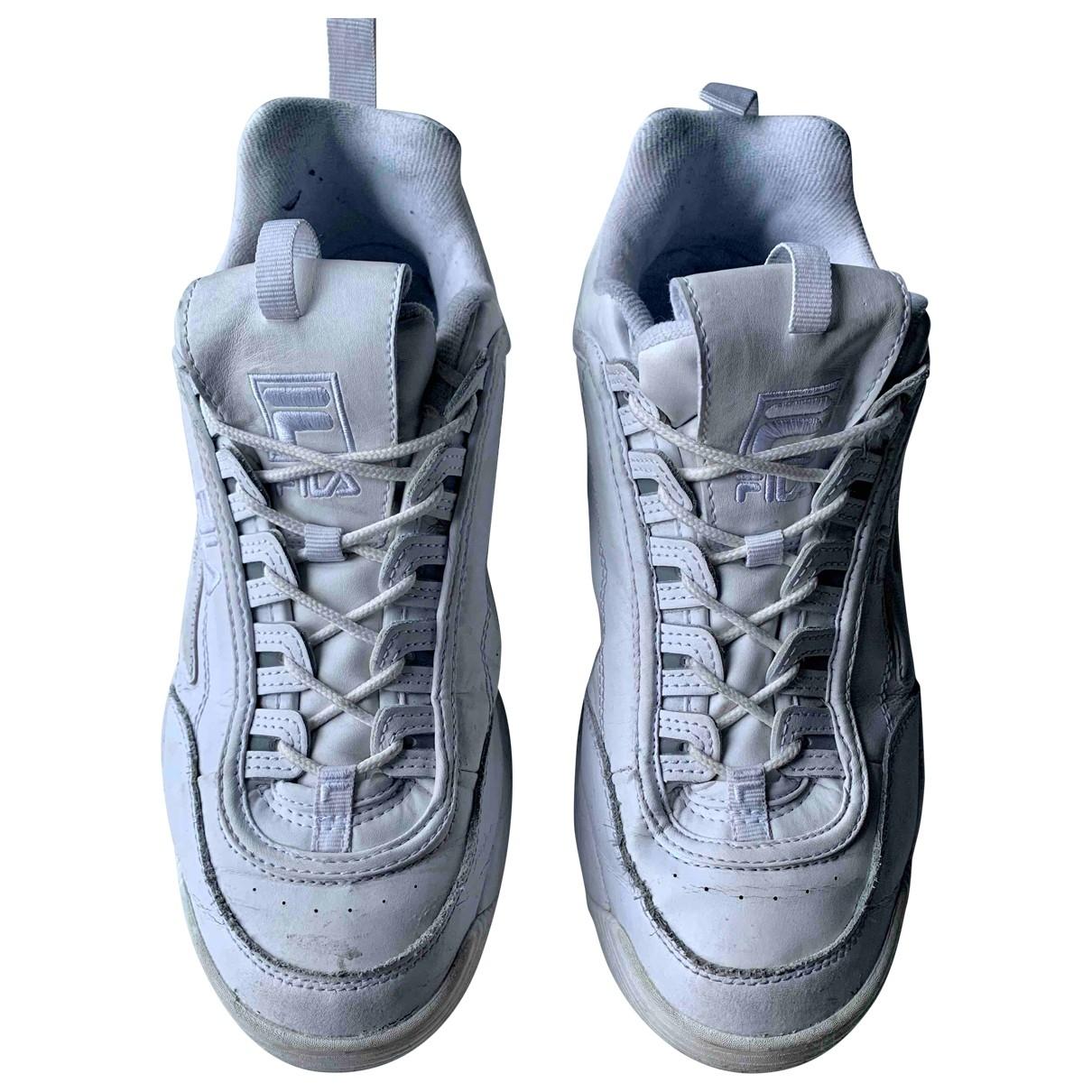 Fila \N Sneakers in  Weiss Polyester