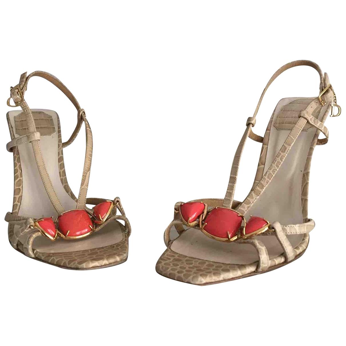 Dior \N Sandalen in  Beige Exotenleder