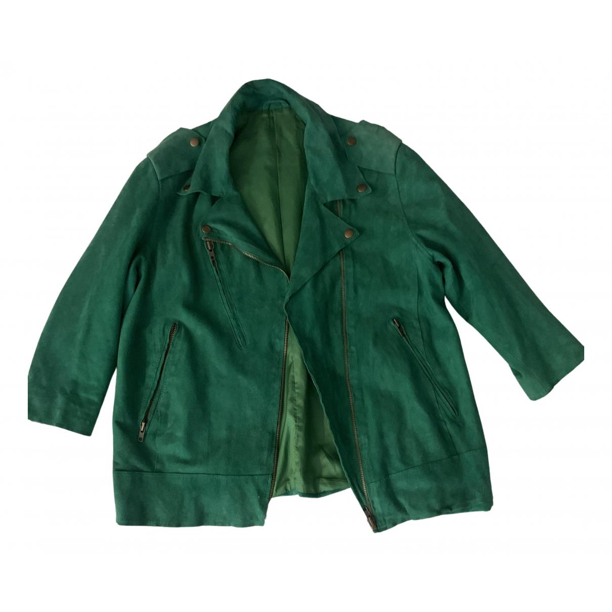 Acne Studios - Veste   pour femme en suede - vert