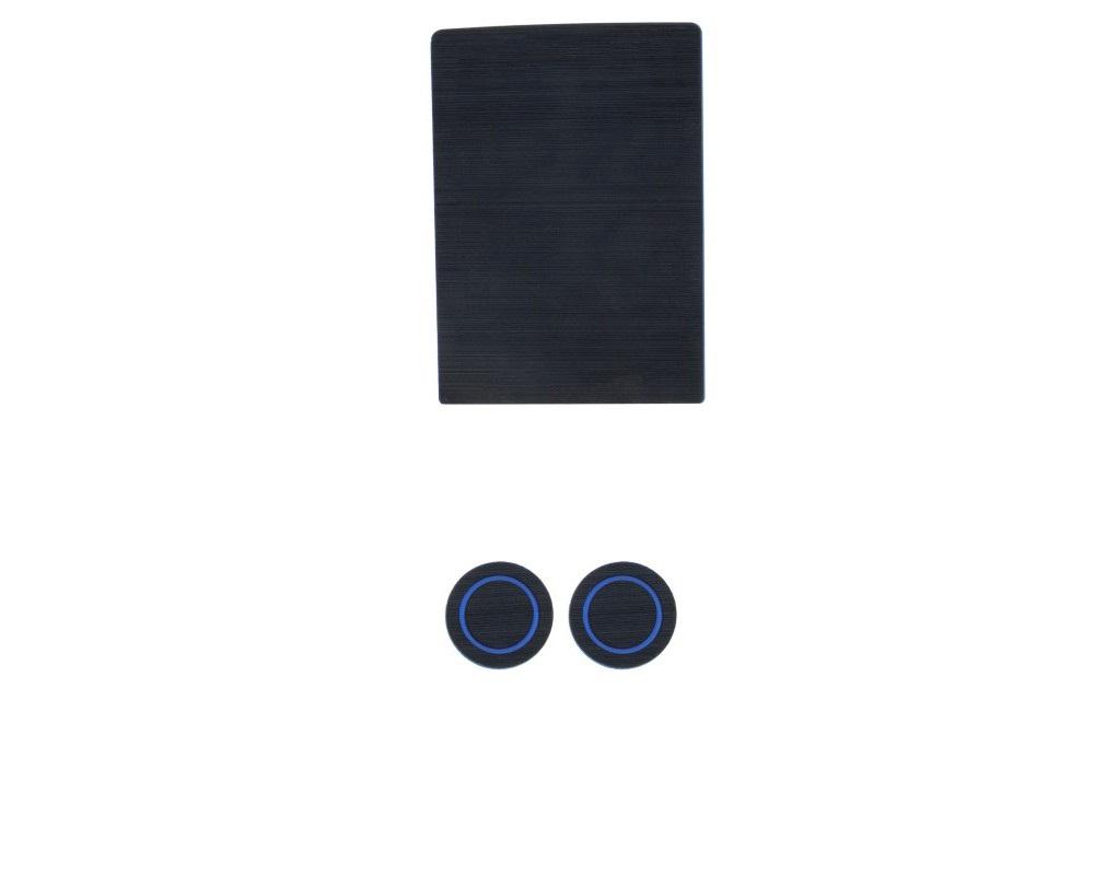 Tufskinz FRD015-FBL-X Interior Cup Holder Inserts Fits 2017-2020 Ford F-150 40/20/40 Split Seats W/O Center Dash Speaker 3 Piece Kit In Black/Blue