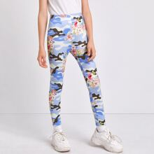 Girls Floral and Camo Leggings