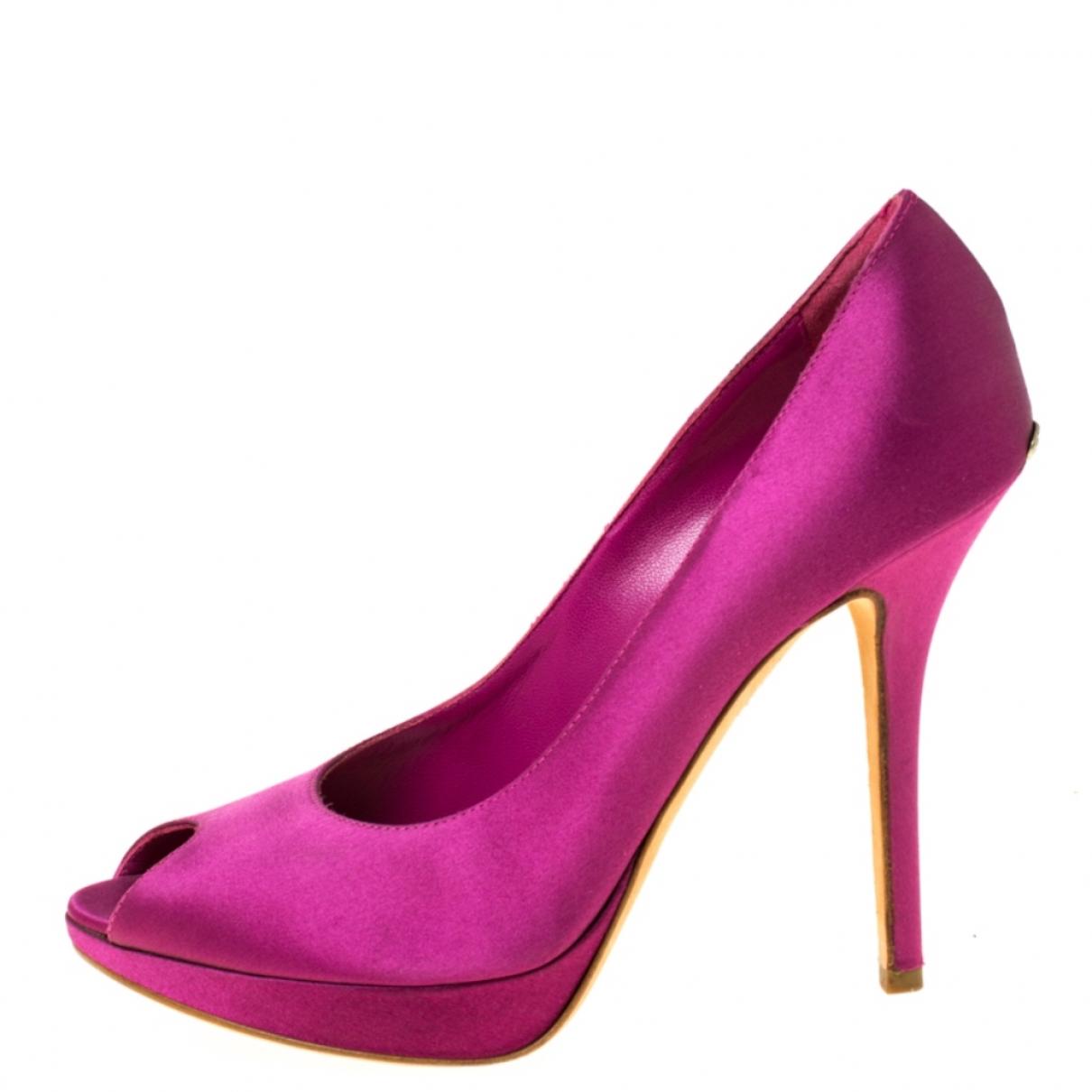 Christian Dior - Escarpins   pour femme en toile - rose