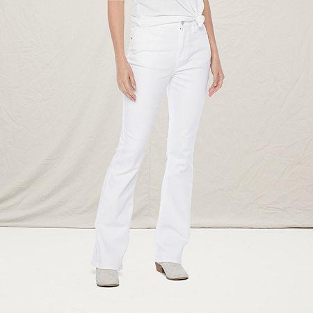 a.n.a Womens High Rise Flare Jean, 18 , White
