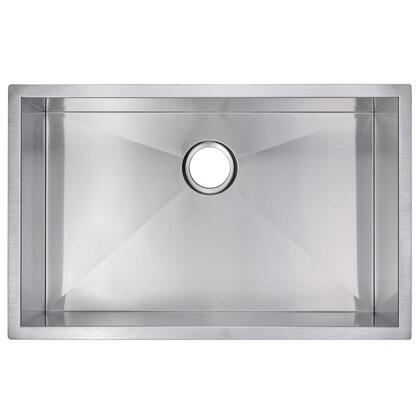 SS-US-3019A Zero Radius Hand Made Undermount Kitchen Sink with Single Bowl  Standard 3.5