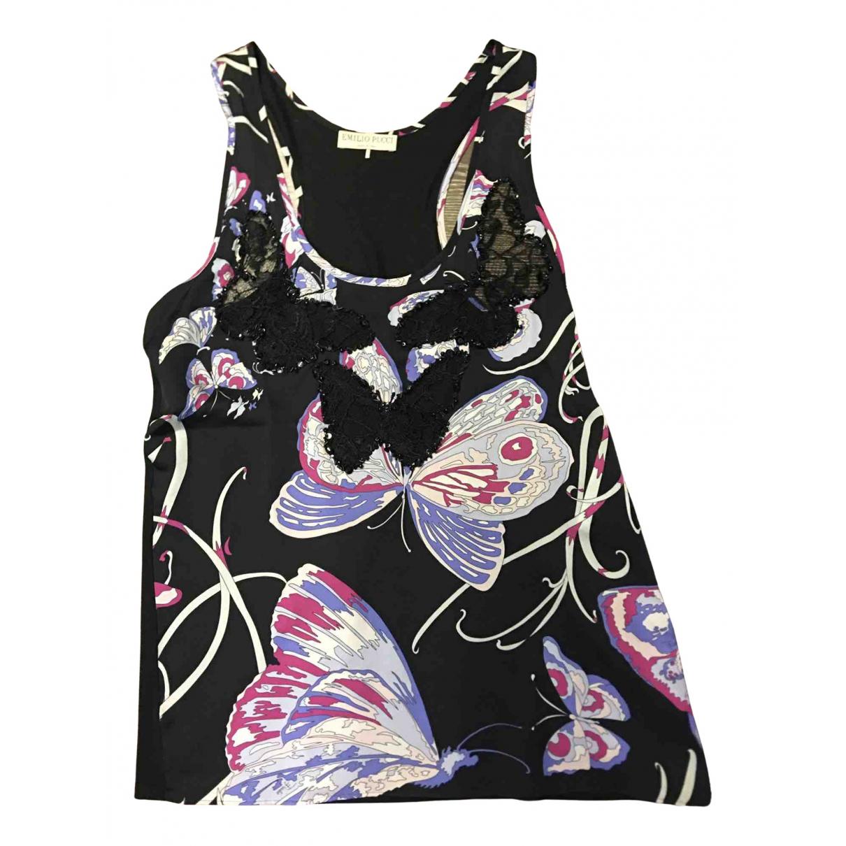 Emilio Pucci \N Black Silk  top for Women 40 IT