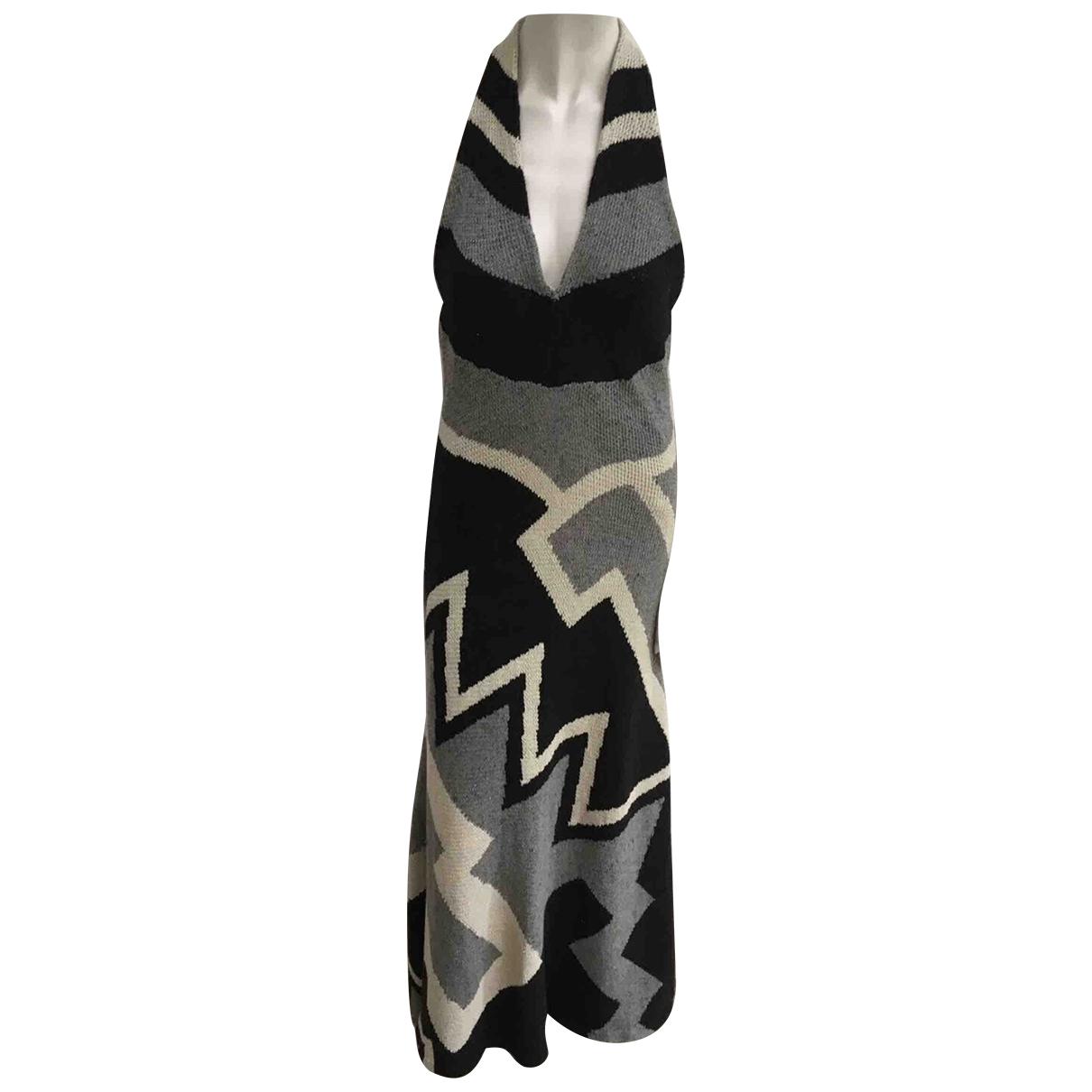 Ralph Lauren \N Kleid in  Grau Leinen