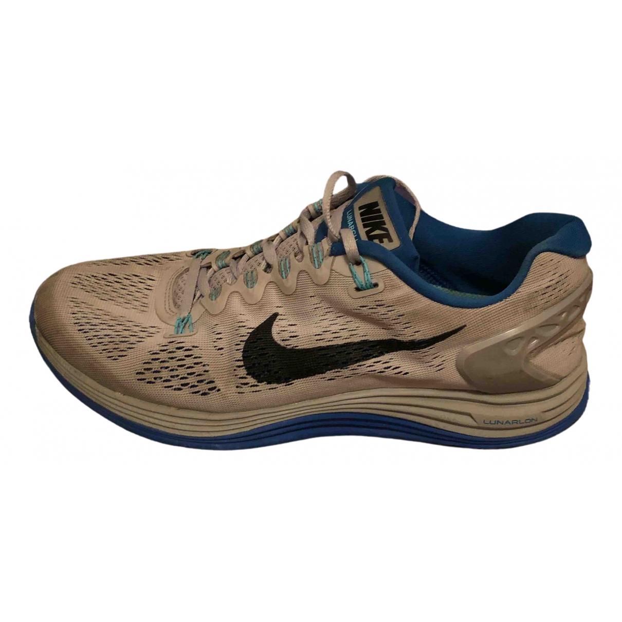 Nike N Grey Rubber Trainers for Men 41 EU