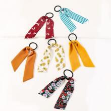 6pcs Fruit Pattern Hair Tie