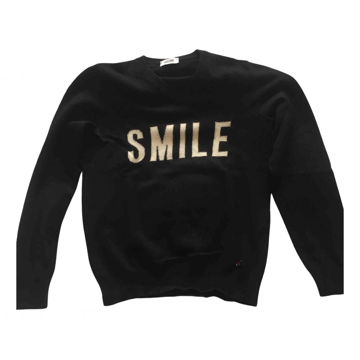 Moschino \N Pullover.Westen.Sweatshirts  in  Schwarz Wolle