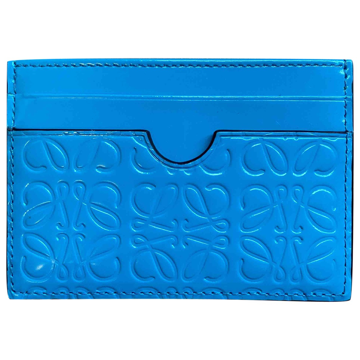 Loewe \N Kleinlederwaren in  Blau Leder