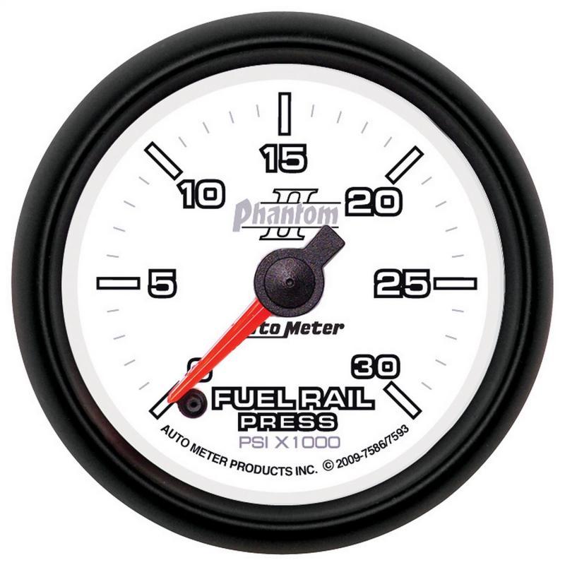 AutoMeter GAUGE; RAIL PRESSURE (RAM 6.7L); 2 1/16in.; 30KPSI; DIGITAL STPR MTR; PHANTOM II Dodge 2007-2009 6.7L 6-Cyl