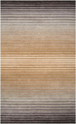 Indus Valley IND-95 5' x 8' Rectangle Modern Rug in Beige  Camel  Taupe