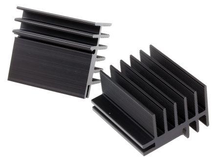 Fischer Elektronik Heatsink, 4.2K/W, 50 x 30 x 45mm, Clip, Black (10)
