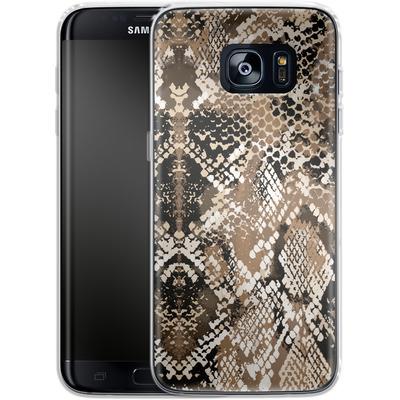 Samsung Galaxy S7 Edge Silikon Handyhuelle - Snakeskin von caseable Designs
