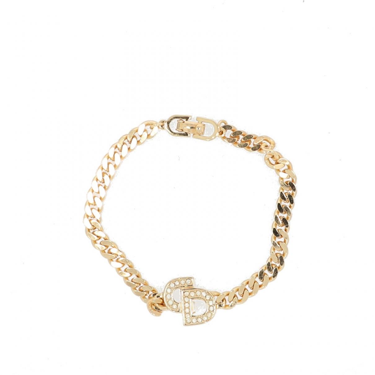 Christian Dior - Bracelet   pour femme en metal - dore