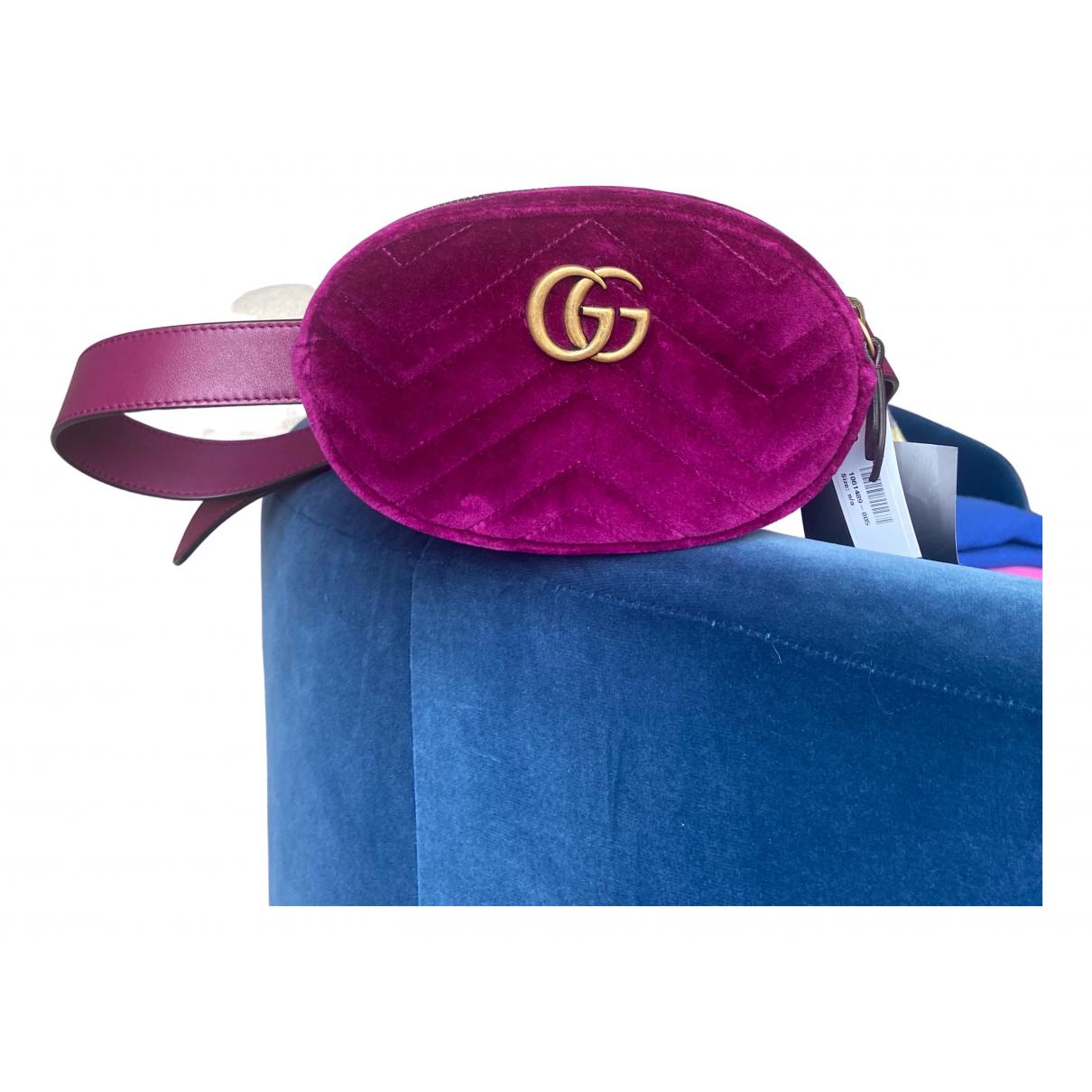 Gucci Marmont Purple Velvet Clutch bag for Women N