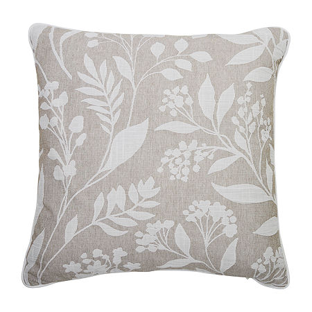 Croscill Classics Layla Square Throw Pillow, One Size , Beige