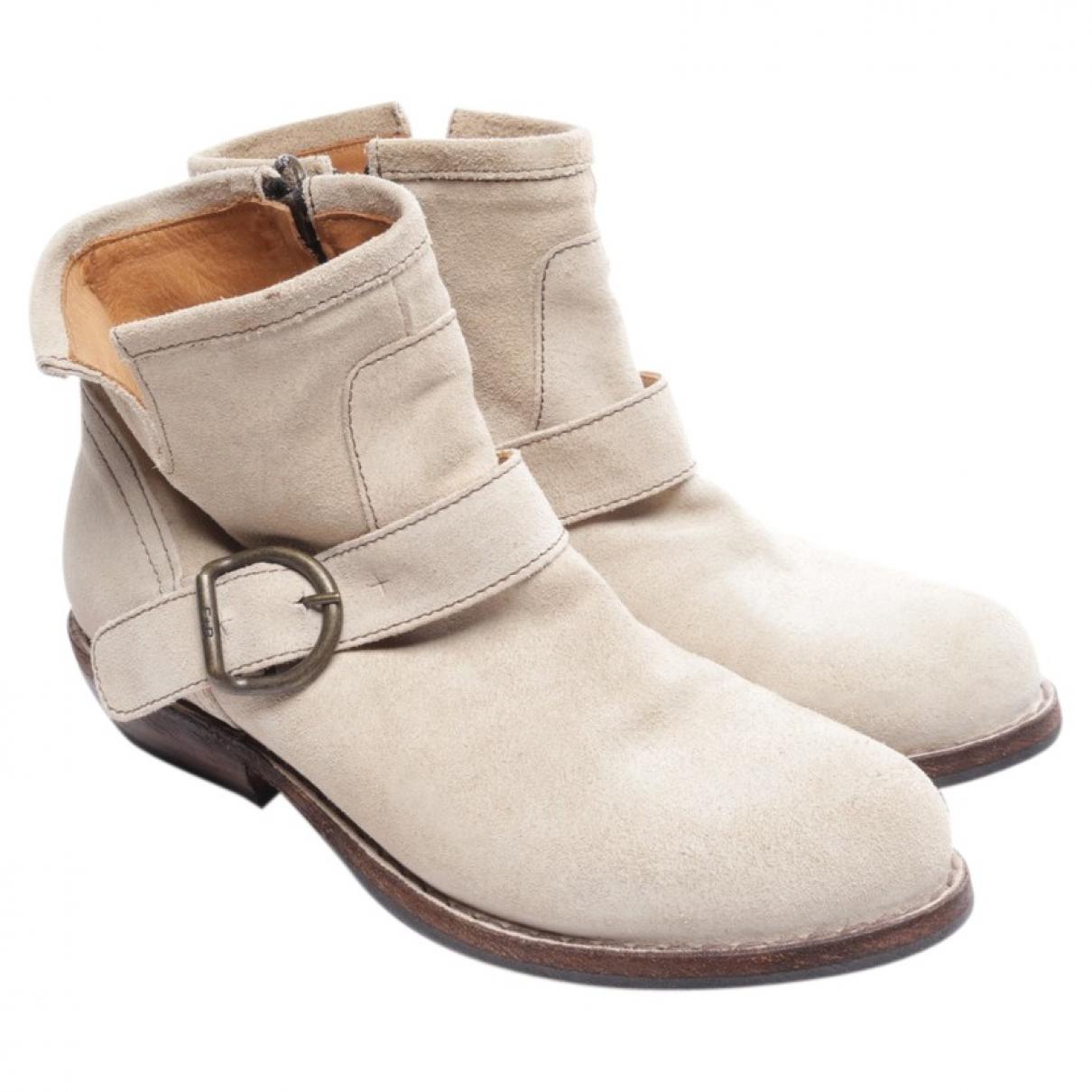 Fiorentini+baker - Boots   pour femme en cuir - blanc
