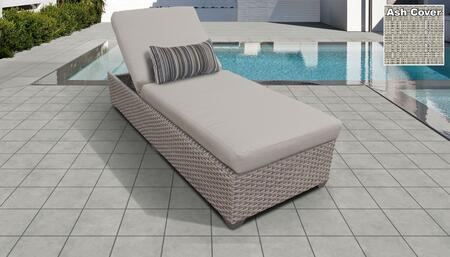 Monterey Collection MONTEREY-1x-ASH Wicker Patio Chaise - Beige and Ash