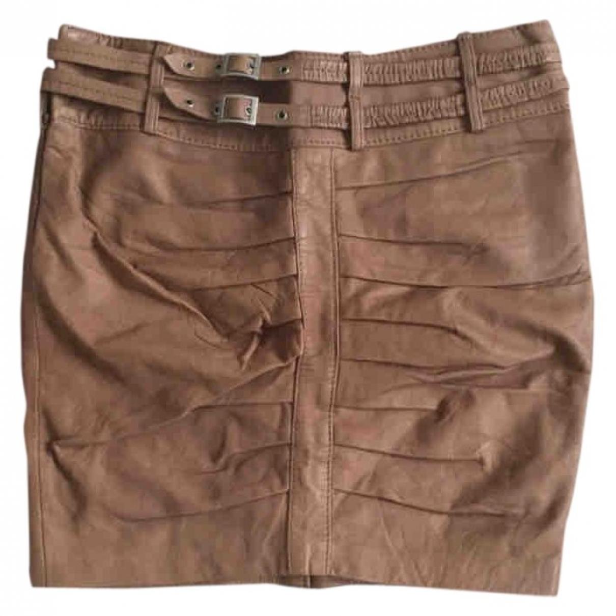 Mini falda de Cuero Luc Duchene