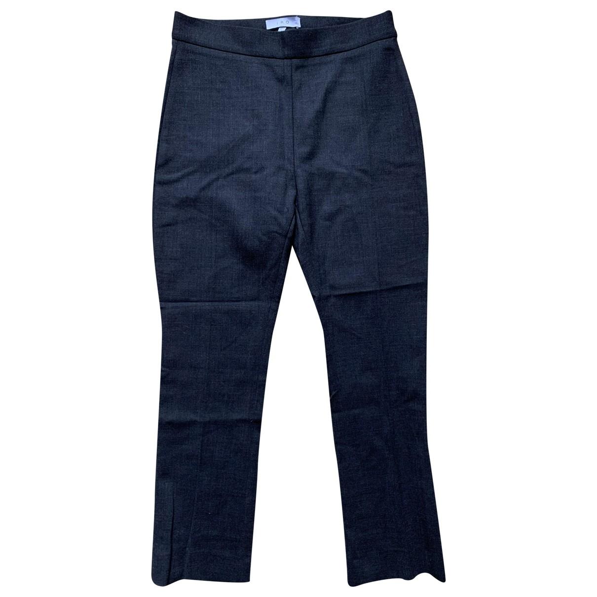 Iro \N Black Wool Trousers for Women M International
