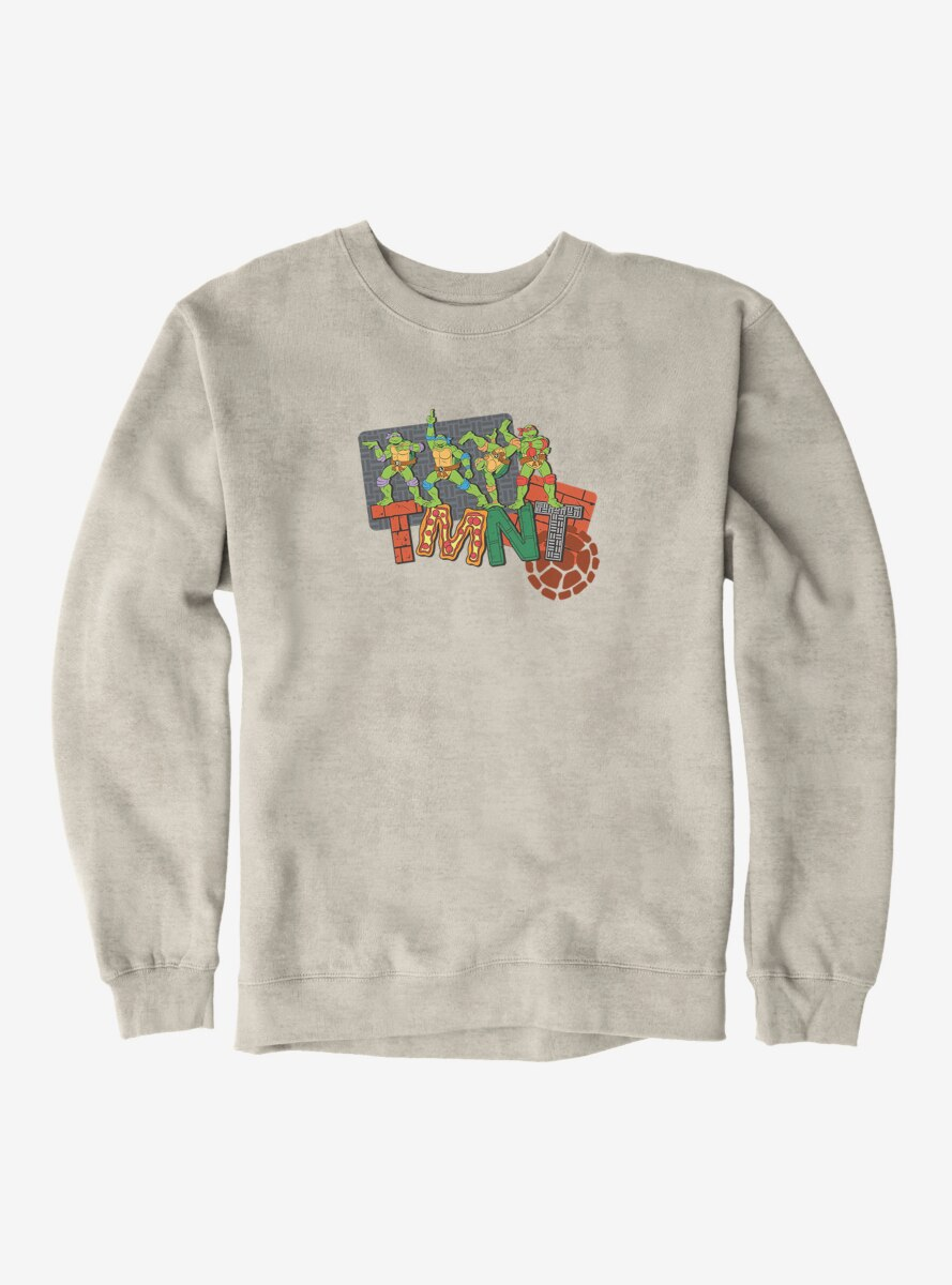 Teenage Mutant Ninja Turtles Patterned Logo Letters Sweatshirt