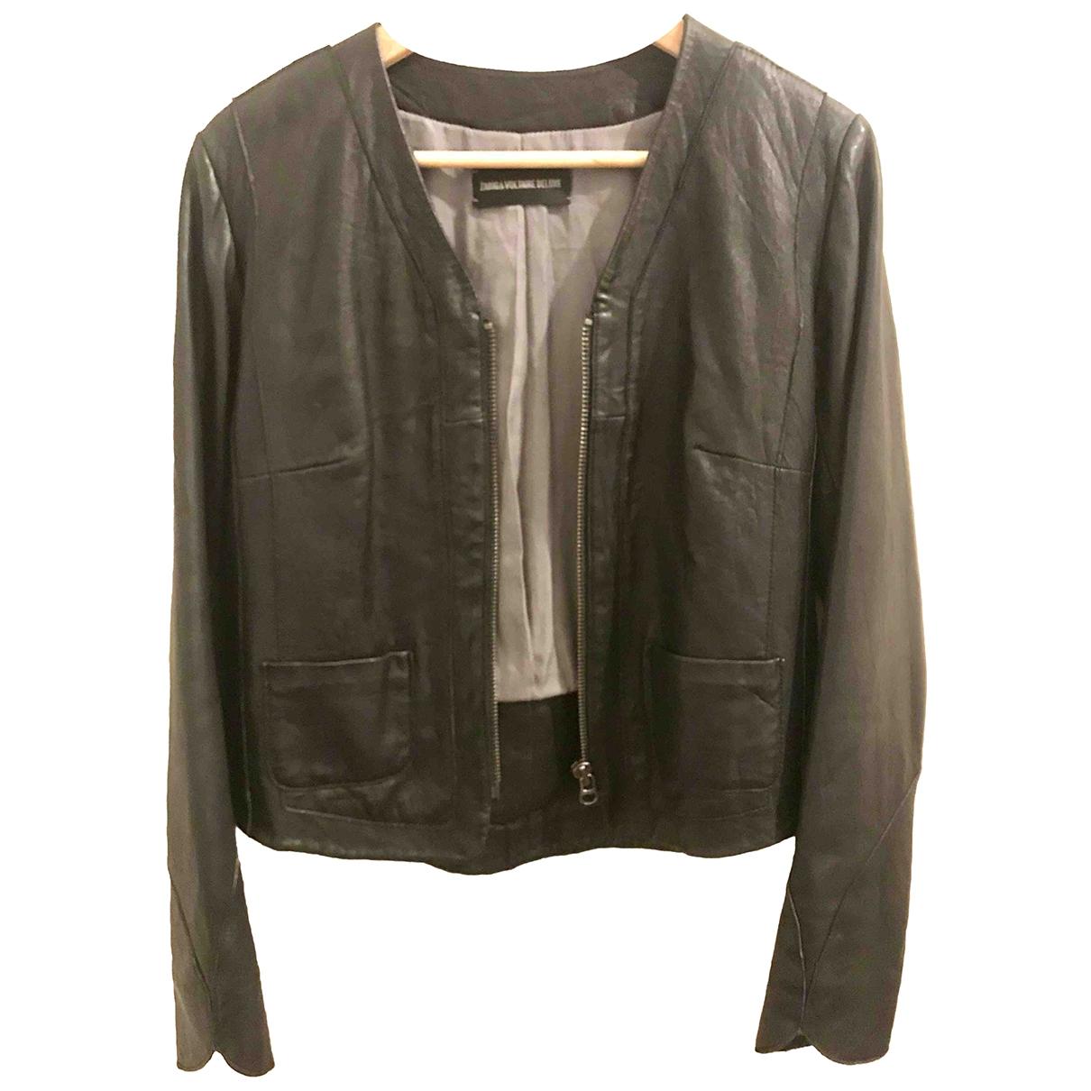 Zadig & Voltaire \N Black Leather jacket for Women 38 FR