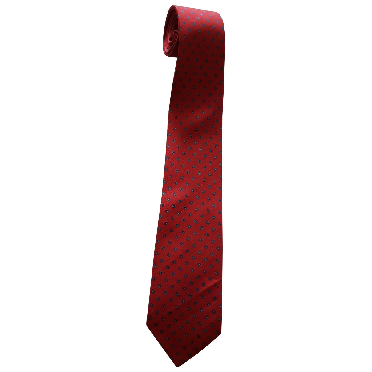 Burberry \N Burgundy Silk Ties for Men \N
