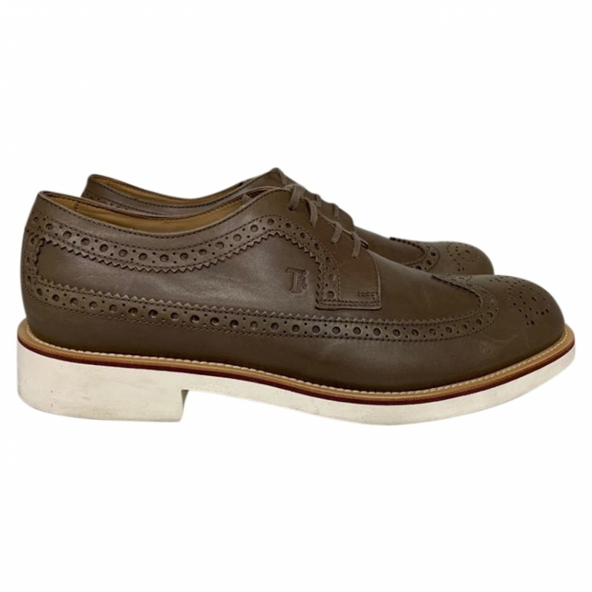 Tod's \N Navy Leather Lace ups for Men 10 UK
