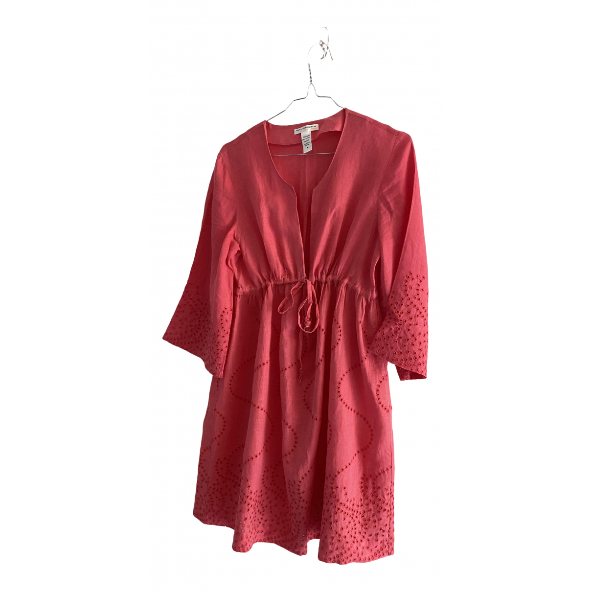 Diane Von Furstenberg \N Pink Linen dress for Women S International