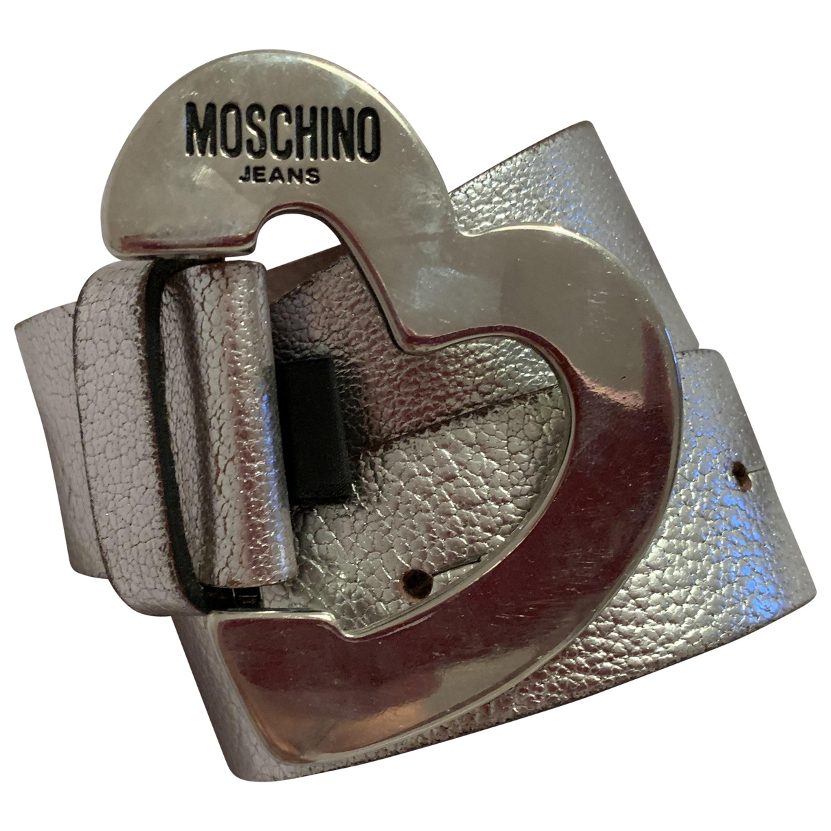 Moschino Love \N Silver Leather belt for Women 85 cm