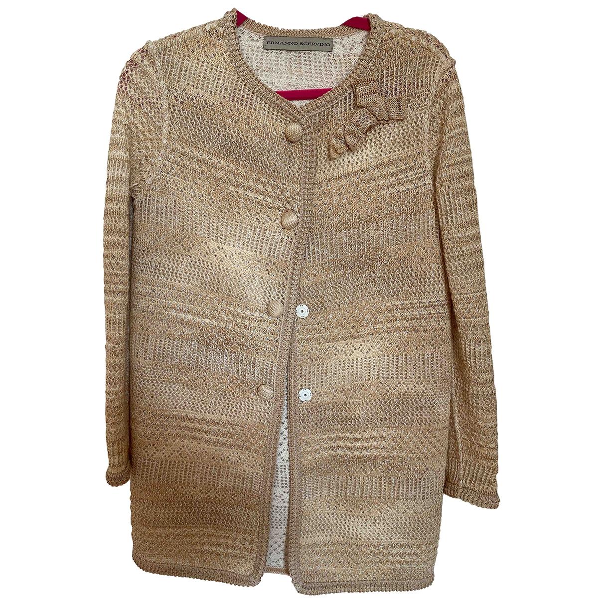 Ermanno Scervino - Manteau   pour femme en coton - beige