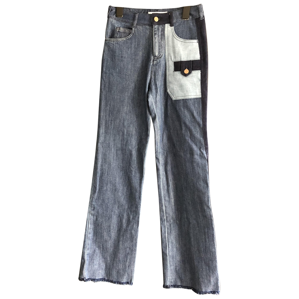 See By Chloé \N Blue Cotton - elasthane Jeans for Women 25 US