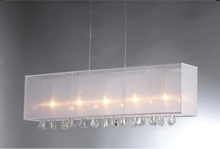 320256 'Jess' Crystal and Mesh Bar Chandelier in