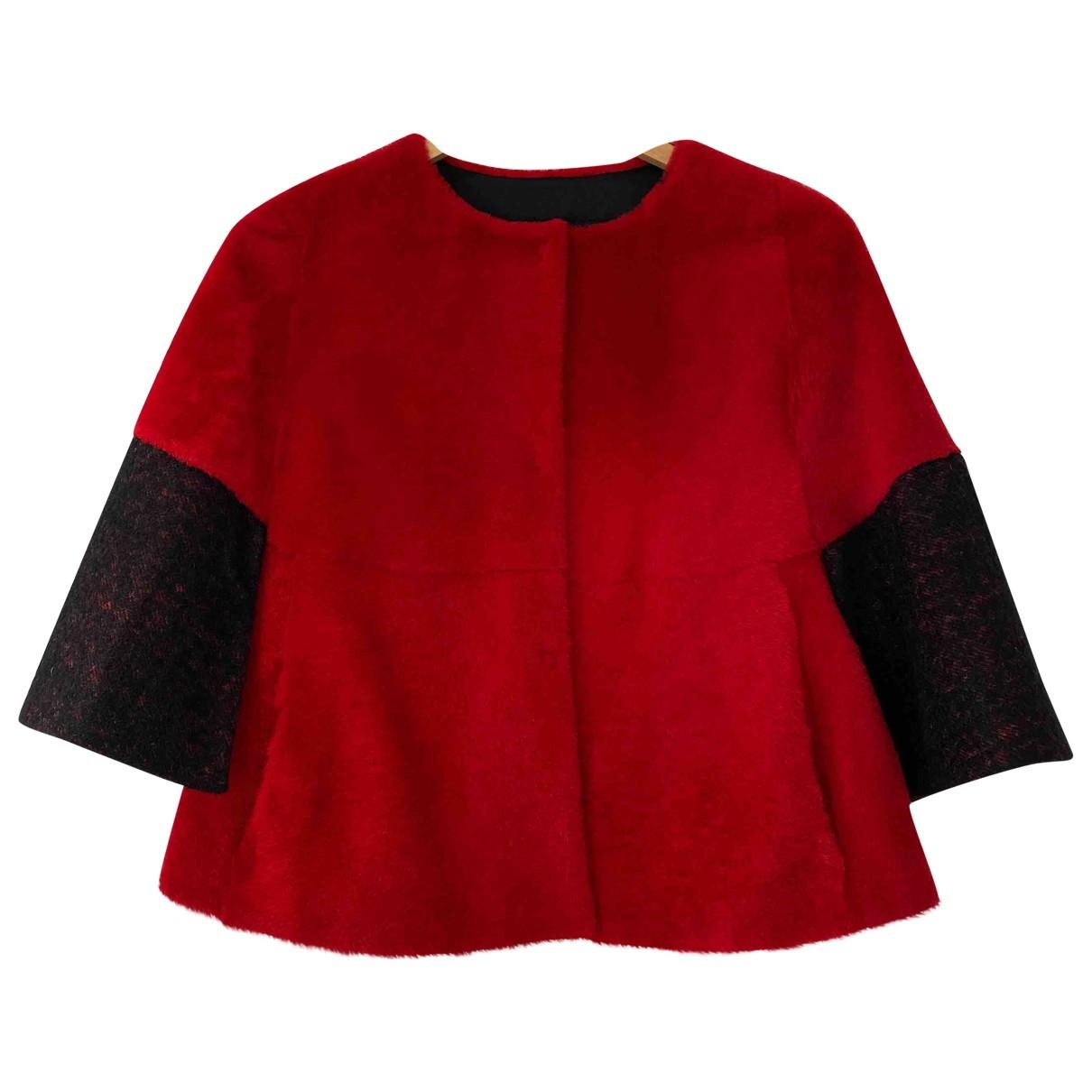 Drome - Veste   pour femme en laine - rouge