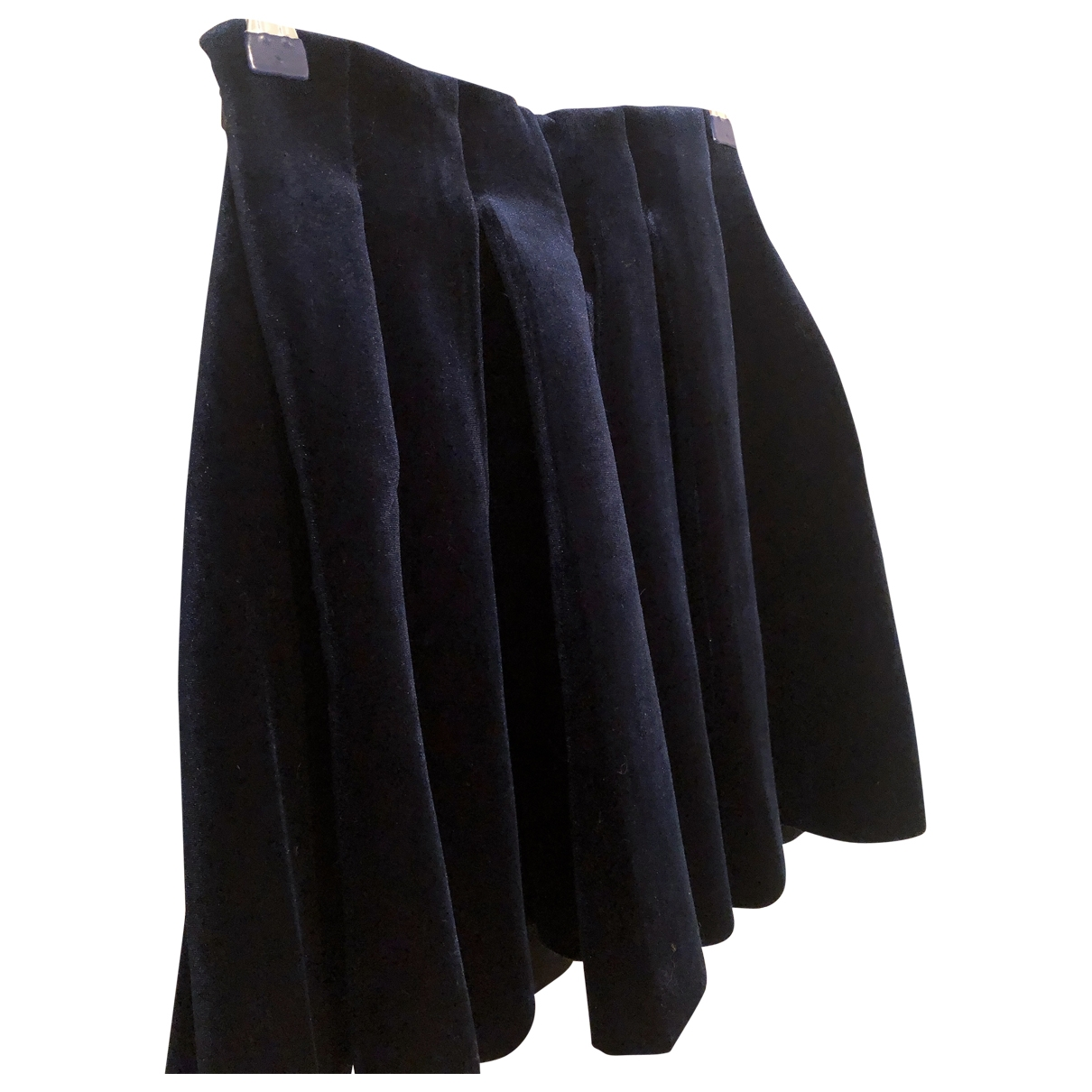 Maje \N Navy Velvet skirt for Women 36 FR