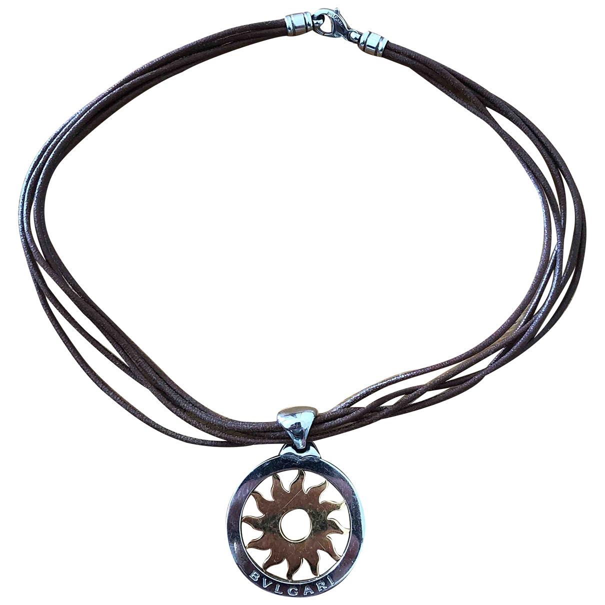 Bvlgari - Collier Tondo pour femme en or et acier